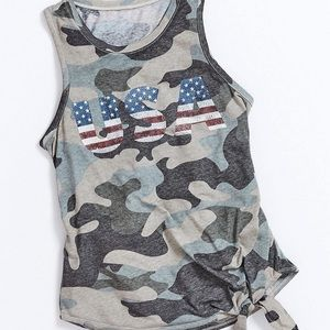 USA Camo Tank Top - Graphic Tee